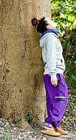 安心ポッケ付きコットンネパールパンツ 紫