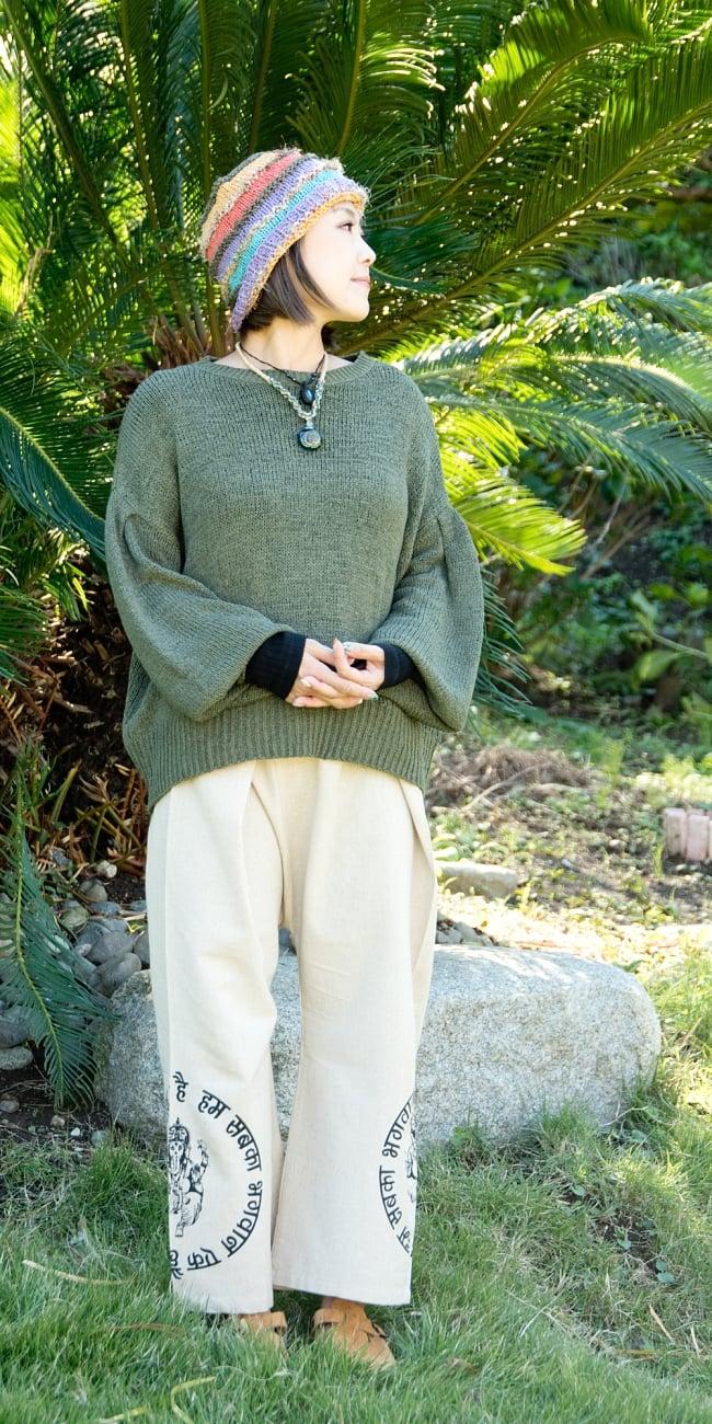 ガネーシャプリント・タイパンツ 3 - 身長150�の着用例です。
