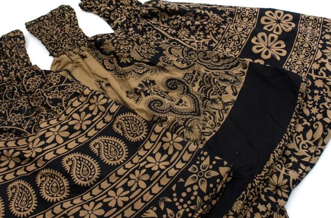 ぞうさんとお花のアラジンパンツ 【黒×薄茶】の写真7 - デザインはひとつひとつ異なります。アソートでのお届けになりますのでご了承ください。