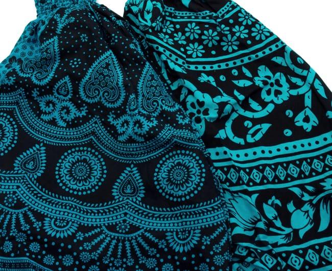 ぞうさんとお花のアラジンパンツ 【黒×青】 7 - デザインはひとつひとつ異なります。アソートでのお届けになりますのでご了承ください。
