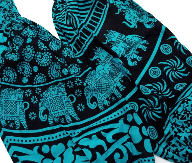ぞうさんとお花のアラジンパンツ 【黒×青】 8 - デザインはひとつひとつ異なります。アソートでのお届けになりますのでご了承ください。