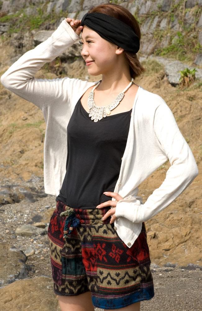 ネパールふわふわ起毛のショートパンツの写真5 - ショート丈で元気に履きこなしてください。