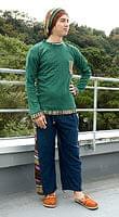 ネパールのフリースロングパンツ 【ネイビー】