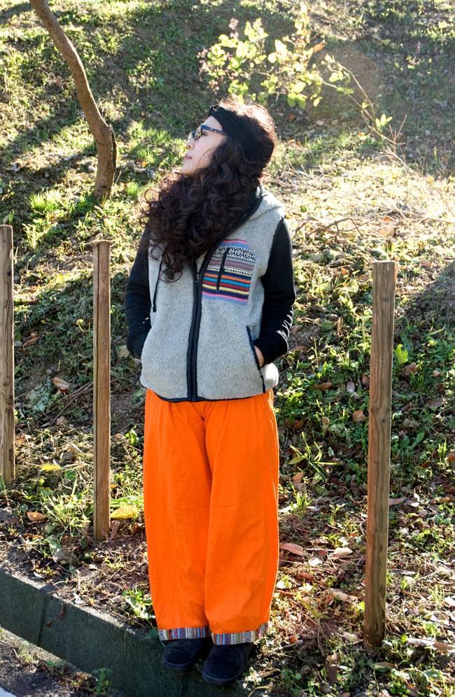 ネパールゲリのスウェットパンツ 4 - D:オレンジ