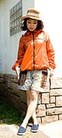 ネパールゲリのバイカラーショートパンツ