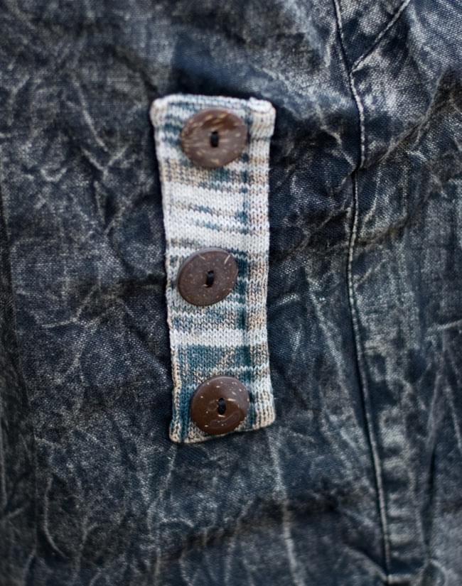 コットンストーンウォッシュパンツ 【黒】 6 - サイドにあるのはフェイクポケットです。