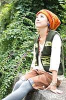 ネパール織布のコーデュロイハー
