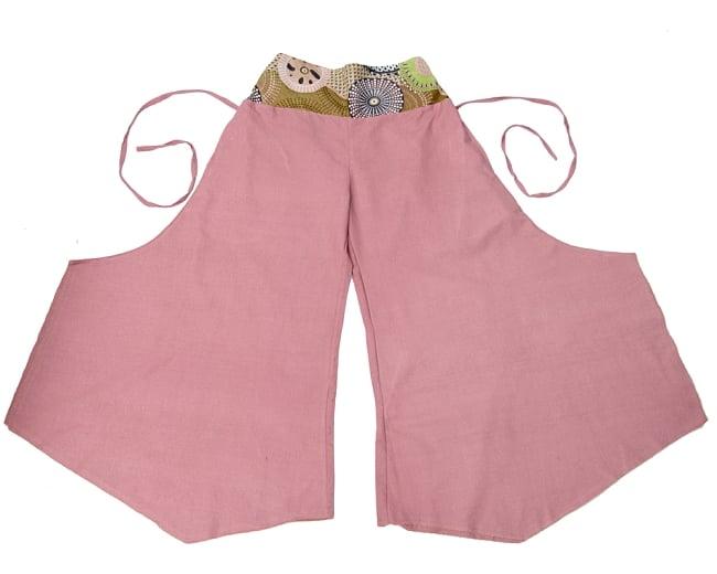 インディアンプリントのコットンワイドパンツ 8 - 8:ピンク