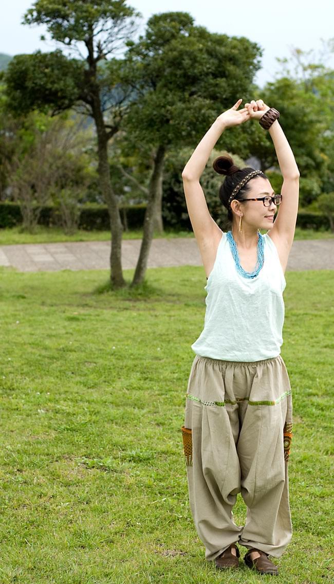プリントポケットのモモンガパンツの写真4 - C:ベージュ