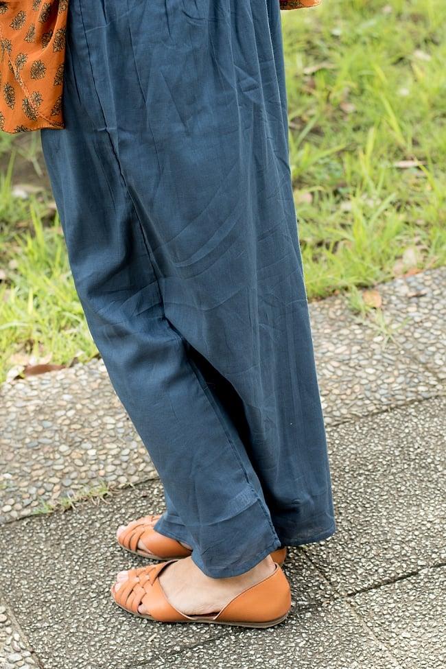 薄手コットンのワイドパンツ 6 - 裾周りをみてみました。