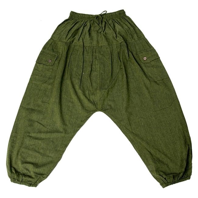 ネパールコットンのアフガンパンツ 11 - グリーン