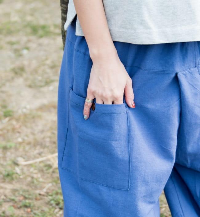 病みつきになる履き心地 簡単!らくちん!タイパンツ 5 - サイドにはポケットもあり、よいアクセントに。