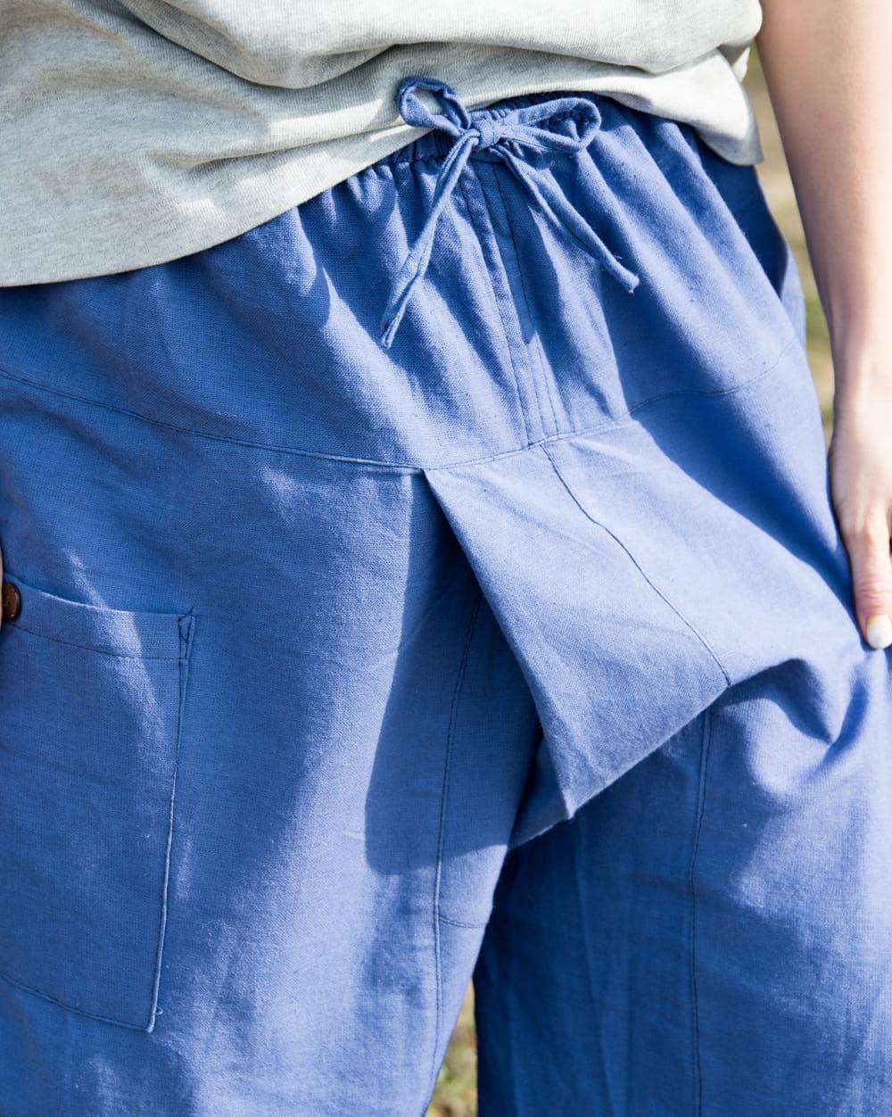 病みつきになる履き心地 簡単!らくちん!タイパンツ 6 - 最大のポイント!まるでタイパンツを履いているかのような股部分が織り込まれたデザインです。