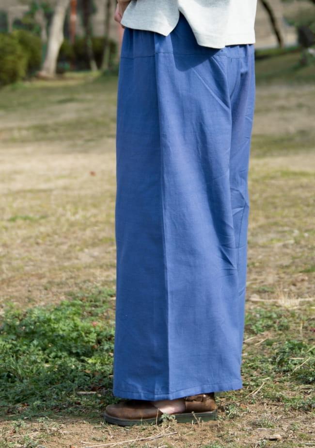 病みつきになる履き心地 簡単!らくちん!タイパンツ 7 - サイドから見たシルエットです。
