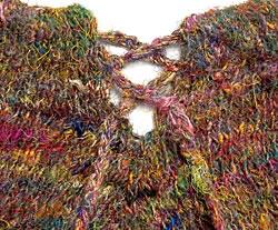 シルク編みポンチョ 3 - リサイクルシルクがカラフルです