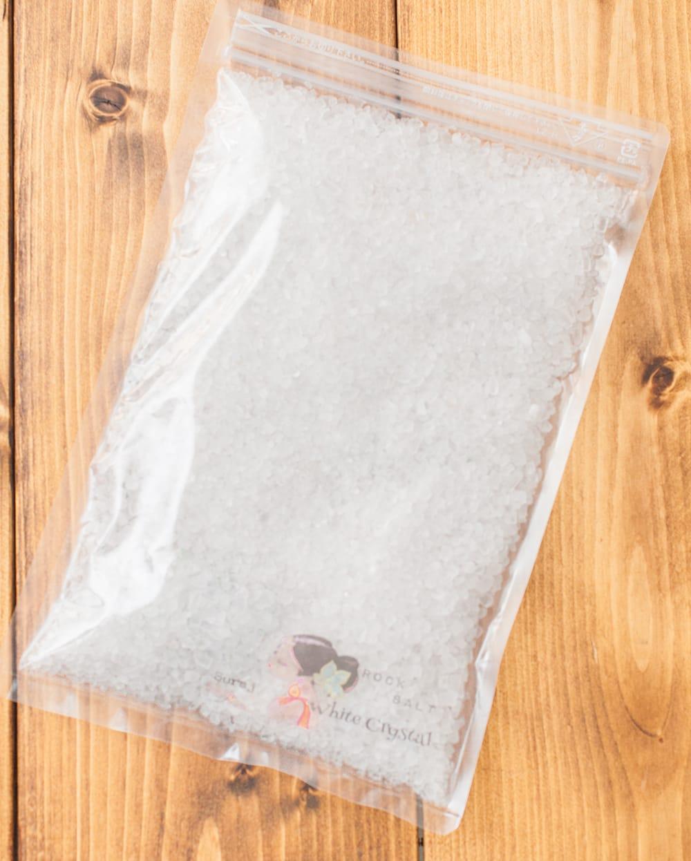 ホワイトクリスタル岩塩【ミル(粗目)500g】 2 - このようなパッケージでお届けします
