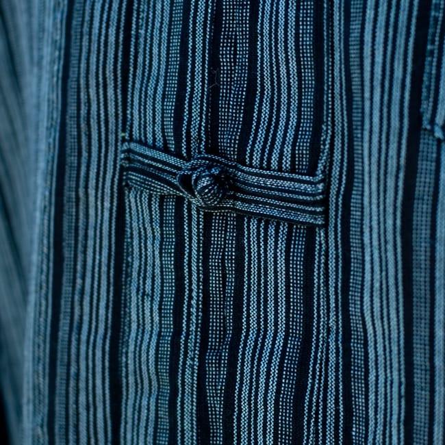 長袖ボタンクルタ 【灰色】 8 - 紐ボタンでエスニックな雰囲気に♪