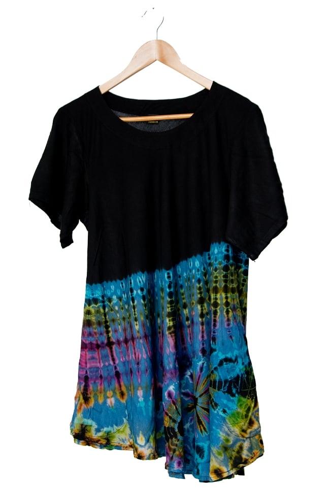 タイダイフレア半袖シャツ 11 - 選択2:ブルー系