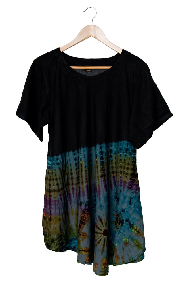 タイダイフレア半袖シャツ 13 - 選択4:グレー系