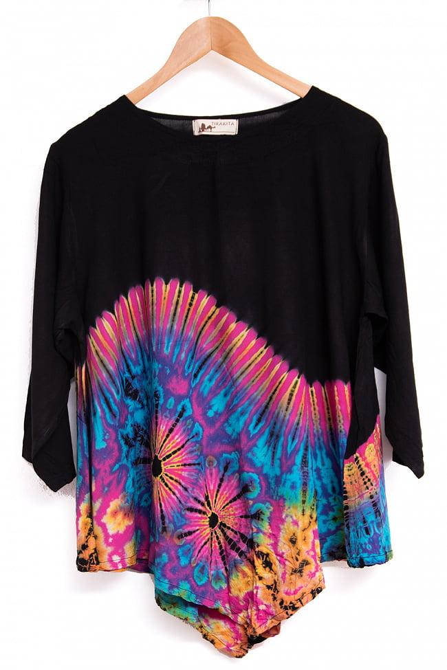 タイダイレーヨンサラサラシャツ 10 - 選択6:ピンク×ブラック