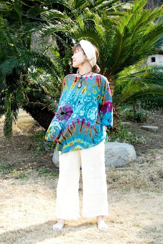 タイダイレーヨンサラサラシャツ 3 - 柔らかい生地がとても着心地良いです。