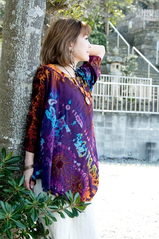タイダイレーヨンサラサラシャツ 4 - サラサラな素材は暑い季節にピッタリ。