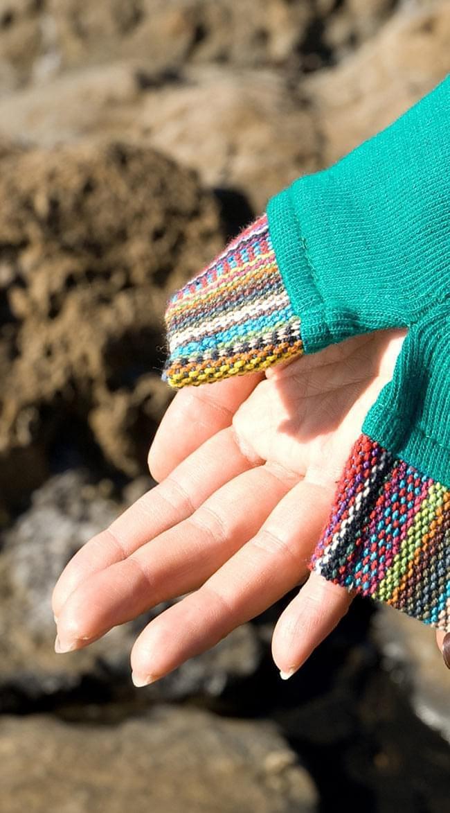 ゲリポケットの長袖コットンリブTシャツ 8 - 広げるとこんな感じです。