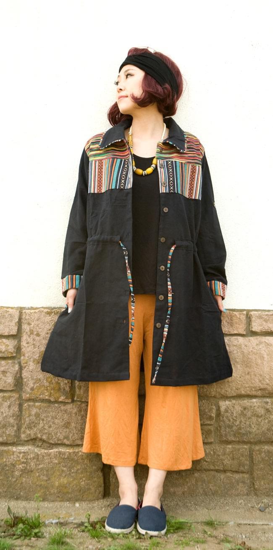 コットンゲリのシャツワンピースジャケットの写真