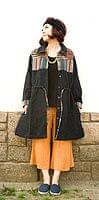 コットンゲリのシャツワンピースジャケット