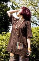 エスニック布のカラフルポケット