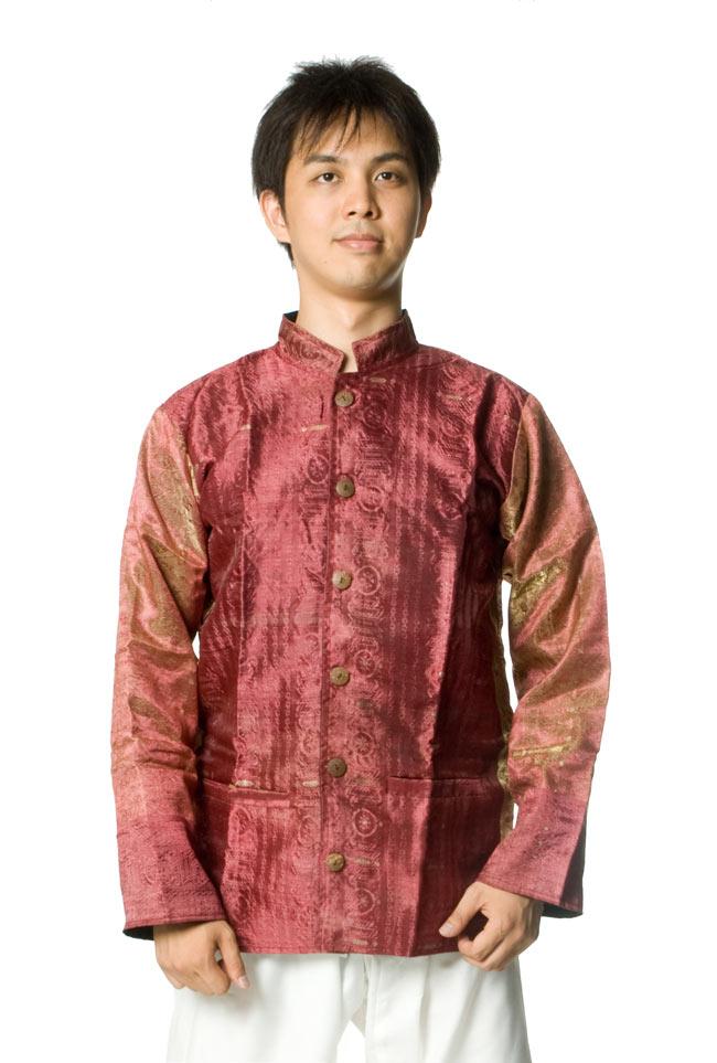サリー刺繍 長袖クルタシャツ の写真
