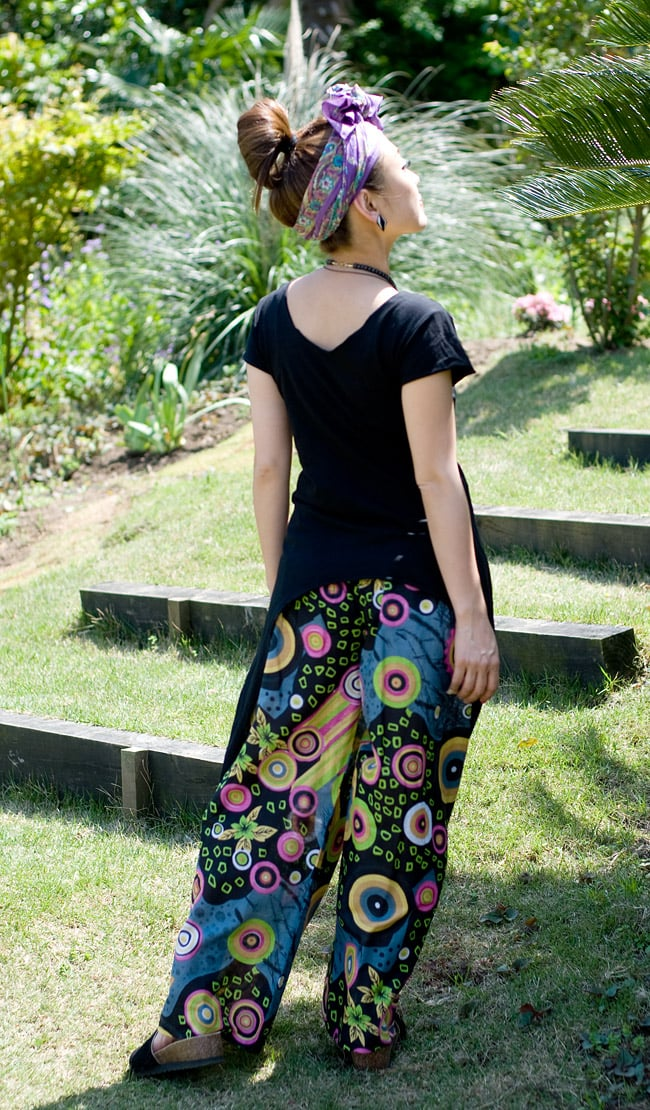 サイドロングストレッチTシャツの写真6 - F:ブラック