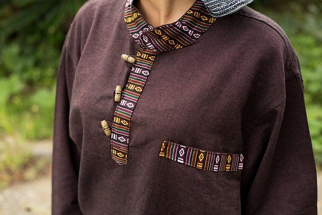 ブータン織 コットンクルタ 9 - ざっくりとした着心地が最高です。