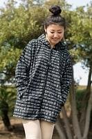 クリシュナマントラのフード付きジャケット
