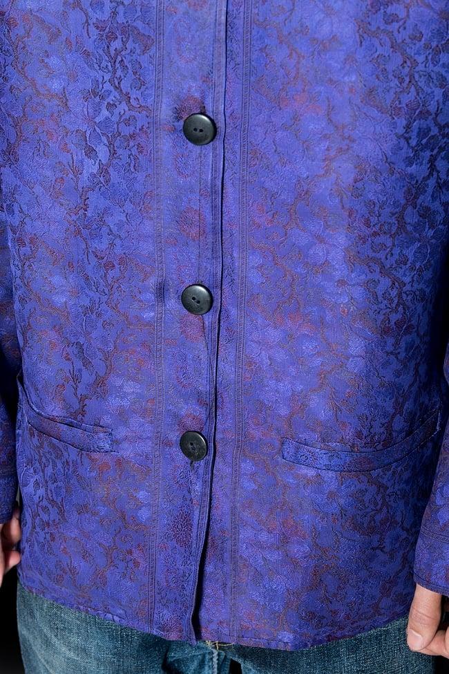 【1点もの】サリー刺繍 長袖クルタシャツ  6 - お腹周りを見てみました。