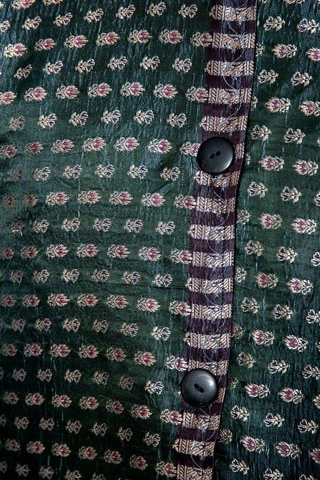 【1点もの】サリー刺繍 長袖クルタシャツ  6 - 別の箇所を見てみました。