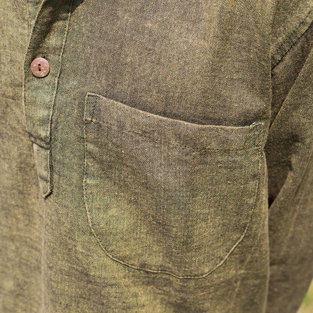 シンプルプレーンのボタンクルタ 9 - 左胸にはポケットがあります。