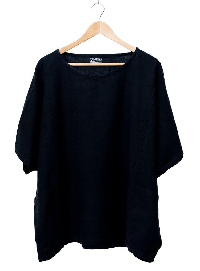 ゆったり着れるシンプルプルオーバー 10 - 選択5:ブラック