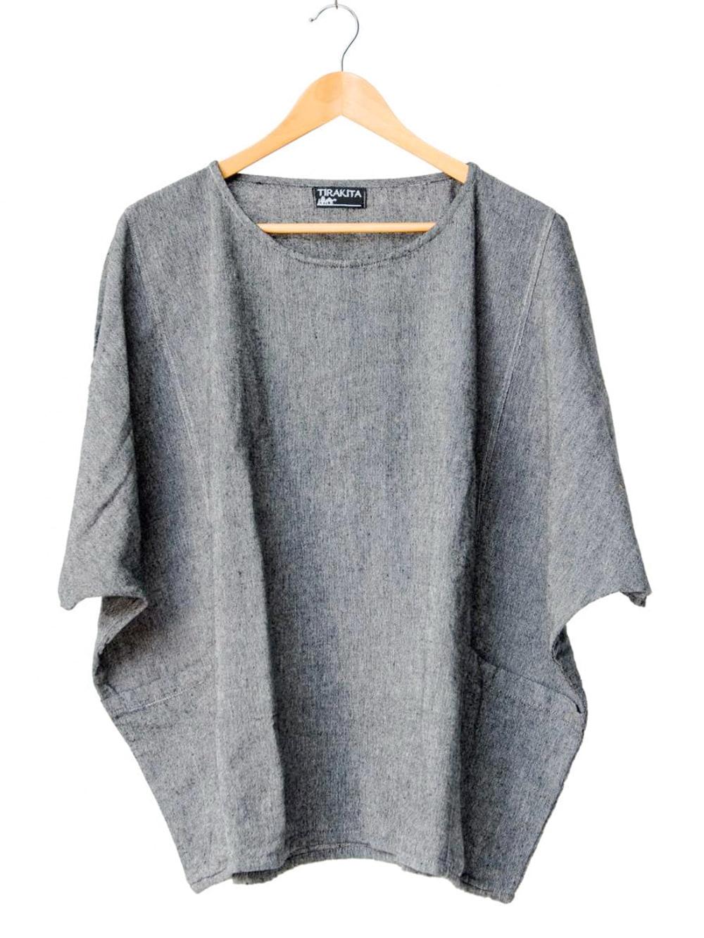 ゆったり着れるシンプルプルオーバー 12 - 選択7:グレー
