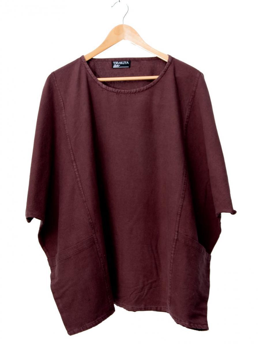 ゆったり着れるシンプルプルオーバー 6 - 選択1:ブラウン