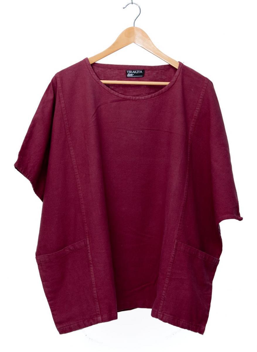 ゆったり着れるシンプルプルオーバー 7 - 選択2:マルーン