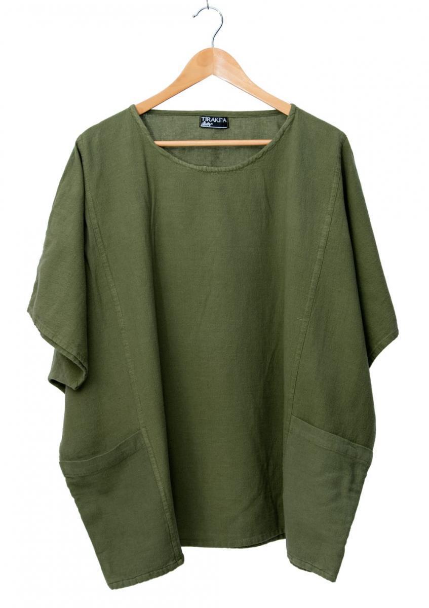 ゆったり着れるシンプルプルオーバー 8 - 選択3:オリーブ