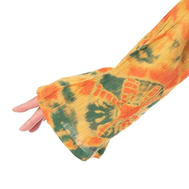 クリンクルタイダイブラウス 6 - 広めの袖口がキュートです。