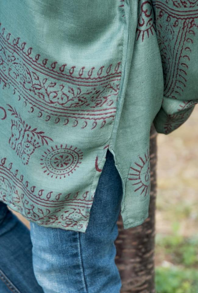 ラムナミクルタシャツ 嬉しいユニセックスデザイン 7 - サイドにはスリット入りで動きやすいデザインです。