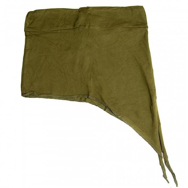 アシンメトリーなストレッチヒップスカート 10 - 10:カーキ(ワイドウエストベルト)