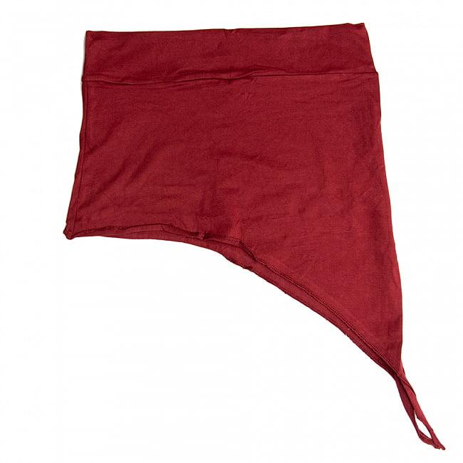 アシンメトリーなストレッチヒップスカート 11 - 11:ダークレッド(ワイドウエストベルト)