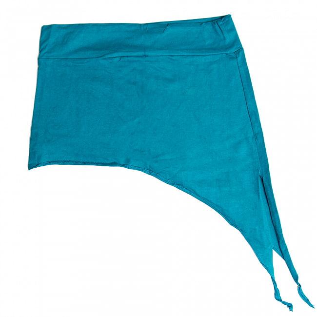 アシンメトリーなストレッチヒップスカート 13 - 13:ブルー(ワイドウエストベルト)