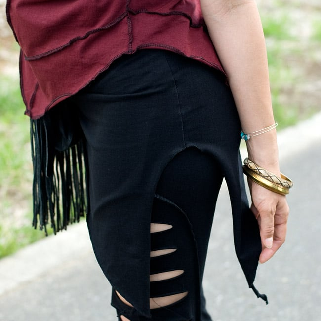 アシンメトリーなストレッチヒップスカート 4 - 4:ブラック