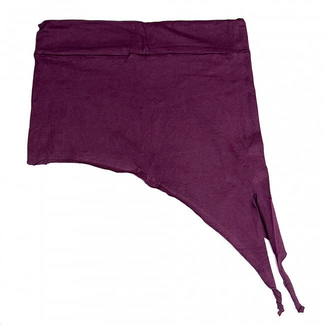 アシンメトリーなストレッチヒップスカート 7 - 7:パープル(ワイドウエストベルト)ウエスト部分のゴムがちょっと太めのデザインです。