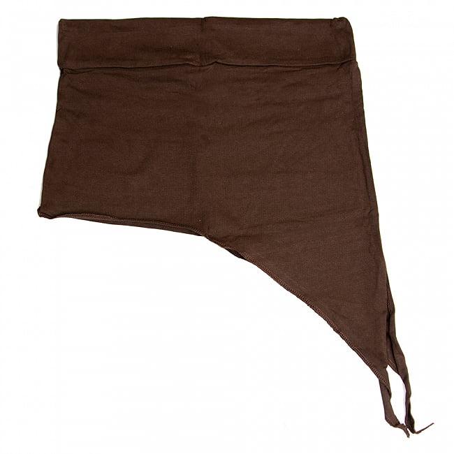 アシンメトリーなストレッチヒップスカート 9 - 9:ブラウン(ワイドウエストベルト)